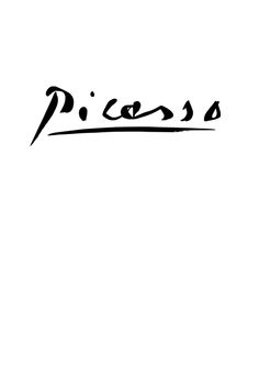 Picasso's signature in Black on White. #blackandwhite #picasso #artists http://www.pinterest.com/TheHitman14/black-and-white/