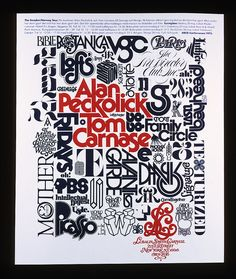 poster promoting the speaking engagements of Peckolick and Carnase in Sweden and Norway by Herb Lubalin (1975)