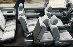 2016 Toyota Sequoia Spacious Interior Seating