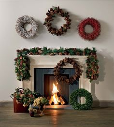 Wreaths and garlands make the home feel festive - and green isn't obligatory! Reds and whites can inject colour to your decorations.