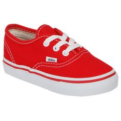 Vans Toddler Authentic Canvas Trainer - Red (1.235 RUB) ❤ liked on Polyvore featuring baby, shoes, baby clothes, kids and baby boy