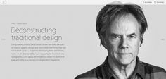 """2014 david was selected as one of apple computers""""30 most innovative users"""" in their 30 year history. (only two graphic designers were selected) """"A pioneer with profound impact"""""""