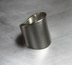 Wide Sterling Silver Ring Cuff Ring Large Silver Ring Tube