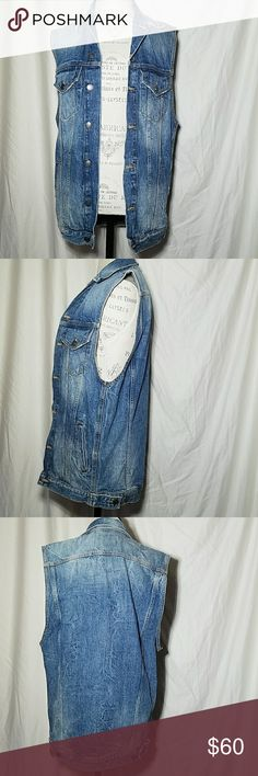 Zara Premium Denim Collection Vest Zara woman's vest. Made in Turkey. Zara Woman premium denim collection. Zara Jackets & Coats Vests