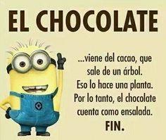 Una buena reflexión sobre el chocolate.