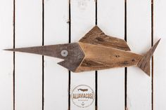 Swordfish wood  Moby Dick  Reclaimed Whale Wood Art