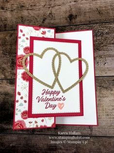 meant to be be mine framelits dies all my love dsp z fold card valentine card idea karen hallam meant to be be mine framelits dies all my love dsp z fold card valentine card idea karen hallam Charlotte nbsp hellip Fancy Fold Cards, Folded Cards, Pop Up Cards, Love Cards, Cricut Cards, Stampin Up Cards, Valentines Diy, Happy Valentines Day, Wedding Shower Cards