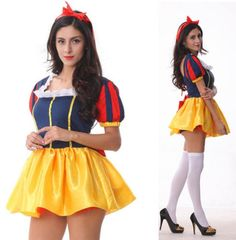 Disney-Princesa-Vestido-extravagante-Adulto-Senhoras-Branca-De-Neve-Fantasia-Halloween-Roupa-Galinha