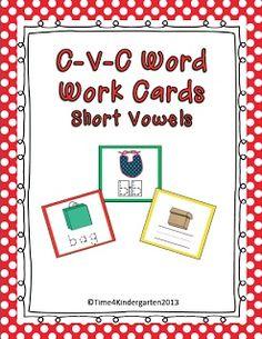 Time 4 Kindergarten: C-V-C Words