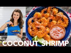 Coconut Shrimp are crisp on the outside with succulent juicy shrimp inside. Do not skip the 2 ingredient coconut shrimp sauce and squeeze of lime juice. Shrimp Salsa Recipe, Coconut Shrimp Sauce, Shrimp Dipping Sauce, Coconut Shrimp Recipes, Fish Recipes, Seafood Recipes, Breaded Shrimp, Fried Shrimp, Shrimp Cakes