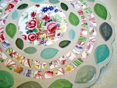 mosaic grouted cake plate
