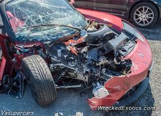 Tesla Roadster crashed in Gaithersburg Maryland