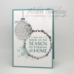 Gothdove Designs - Alison Barclay - Stampin' Up! Australia - Stampin' Up! Lost Lagoon Christmas Card #stampinup #gothdovedesigns #christmas