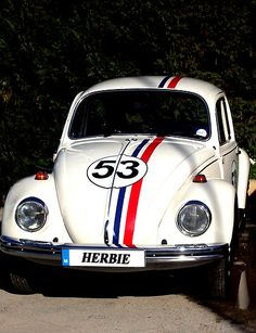 I'm fixing up Delmon's car and its gonna look like this because I always teased him about his car being Herbie :)