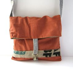 LOVE all of her bags, this one has some interesting details including a part of a recycled coffee sack