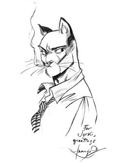 Blacksad sketch Comic Art