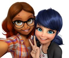 "adrien-kitty-agreste: "" Oh yes, they did it. A photoshoped version of their selfie. Enjoyyyyy """