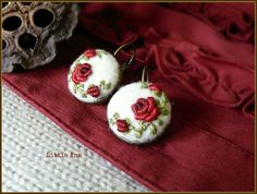 Hey, I found this really awesome Etsy listing at https://www.etsy.com/listing/264676969/rose-garden-earrings-white-and-red
