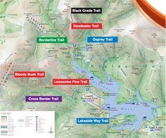 Map of the moutain bike trails around Kielder Water, Northumberland. #NlandActive