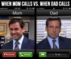 When my parents call…