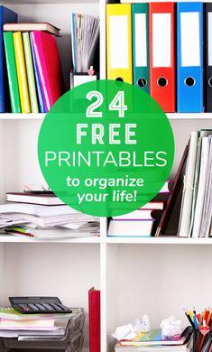 24 Free Home Management Printables - Organization Printables Binder - Life Planner Printables - Finance Printables #Organization #Printables #Binder