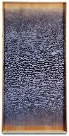 MARTIN KLINE  Silver Painting, 2002, Encaustic on panel