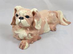 Kay Finch Vintage Pink Pekingnese Figurine