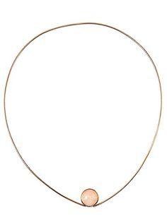 Kaunis Koru, vintage minimalist 14K gold necklace with moonstone, 1962. #Finland   Bukowskis.com