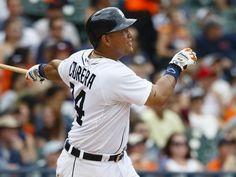Detroit Tigers first baseman Miguel Cabrera (24) hits