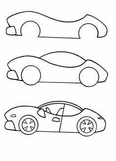 How To Draw A Cartoon Race Car Art Drawings Patterns