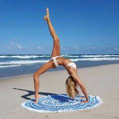 Vagabond is a luxury bohemian beach and lifestyle brand for the free spirit in all of us #beachwear #towel #roundbeachtowel #luxury #beach #boho #bohemian #style #bikini