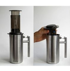 The JavaJug™ is a new AeroPress® companion product that helps you press, brew & serve coffee. It's also designed to be a rugged storage unit for home or travel.