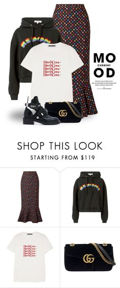 """""""Jan 9th (tfp) 5034"""" by boxthoughts ❤ liked on Polyvore featuring Current Mood, Saloni, RE/DONE, AlexaChung, Gucci, Balenciaga and tfp"""