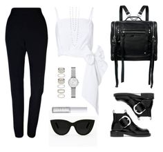 """""""Minimal"""" by baludna ❤ liked on Polyvore featuring McQ by Alexander McQueen, Quay, Plakinger, MDS Stripes, Maison Margiela, Lord & Berry, Forever 21, Emporio Armani and Lafonn"""