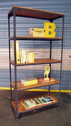 vintage industrial bookshelf from Like That One