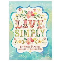 2014-2015 Take Me With You Planner - Live Simply by Studio Oh! | 16-18 Month Agendas Gifts | chapters.indigo.ca