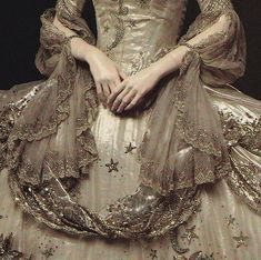 Detail of costume made by Adrian for Marie Antoinette - 1938. ~DREAMWEAR~
