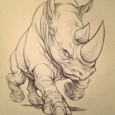 Original art from behind the scenes. What do you think? #rhino #ecko #art…