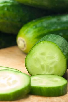 Cucumber - Anti-Ageing Food.  Cucumber is often applied topically to areas of the skin to improve moisture levels and fade wrinkles, particularly around the eye area. But make sure you eat those slices afterwards, because they're rich in collagen-boosting vitamins A and C, as well as vitamin K, which is essential for bone strength and proper brain function. Cucumbers also contain lutein and zea-xanthin - natural compounds that seek out and destroy harmful toxins in the body.