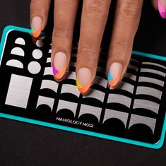 Classique: Pardon My French French Tip Manicure Nail Plate - Pardon My French Nail Stamping Kit For French Tip French Tip Manicure, French Tip Nail Designs, Nail Manicure, French Manicure With A Twist, Colorful French Manicure, Reverse French Manicure, Shellac Nail Art, Nail Polish, Nails Today