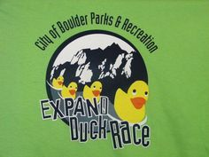"Next 5 people to ""Like"" our Facebook page win a #2012 #Expand #Duck #Race #Boulder #Creek #Fest T-Shirt"