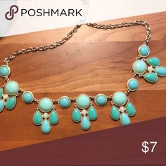 Turquoise Francesca's statement necklace Gorgeous blue statement necklace from Francesca's! Francesca's Collections Jewelry Necklaces