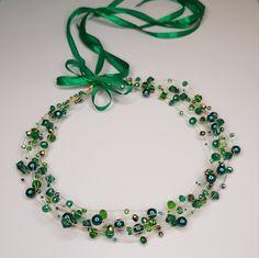 Green Emerald Headpiece, Crystl Hair Piece, Bridl Headpiece, Crystal Headband, B. Stylish Jewelry, Cute Jewelry, Hair Jewelry, Bride Headband, Boho Headband, Diy Tiara, Handmade Wedding Jewellery, Wire Jewelry Designs, Packing Jewelry