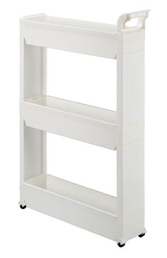 Slim Storage Cabinet Organizer Rolling Pull Out Cart Rack Tower With Wheels    3 Shelf   Shelving Ideas Solutions For Narrow Spaces In Laundry Kitchen  ...