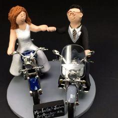 #motorcyclewedding #motorcyclebride #honda #yamaha #harleywedding #harleydavidson #weddingcaketopper #caketopper  #caketoppers  #magicmud.com #1-800-231-9814 #motorcycle #wedding  motorcycle wedding cake topper made to order  magic mud.com