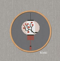 Cross Stitch Pattern Chinese Lantern Instant Download