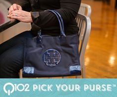Tory Burch - Nylon Mini Ella Tote in French Navy. Go to wkrq.com to find out how to play Q102's Pick Your Purse!