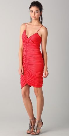 Halston Heritage Ruched Front Dress thestylecure.com