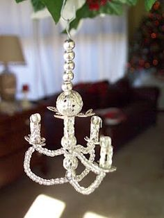 miniature chandelier from beads