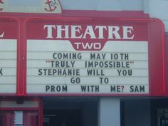 Movie prom proposal